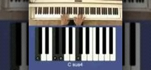 Play suspended chords on the piano