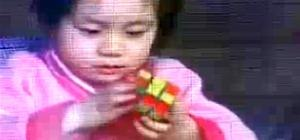 What's This Chinese Baby Been Eating? 3-Year-Old Solves Rubik's Cube in 114 Seconds