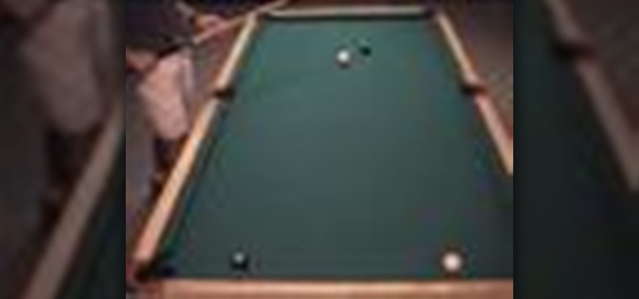 How to Make a power shot, positioning the cue ball
