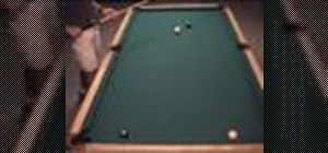 Make a power shot, positioning the cue ball