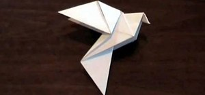 Origami a dove for Easter or Earth Day