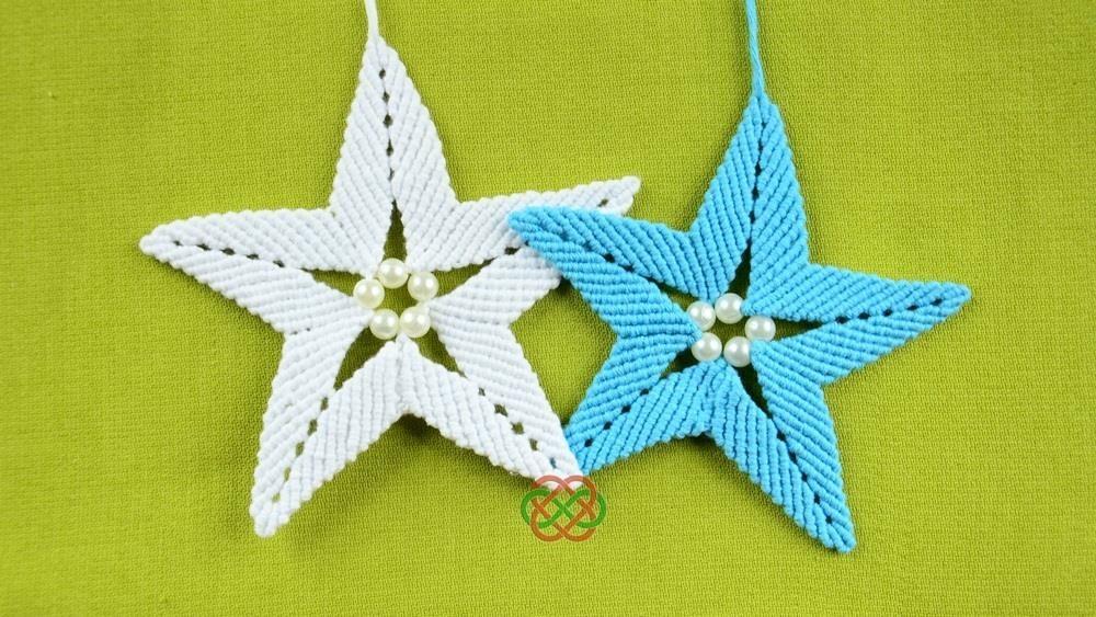 How to Make Macrame STAR Ornament