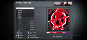 Create an anarchy sign playercard emblem in Call of Duty: Black Ops