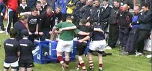 Build the rugby scrum front row