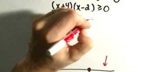 Solve quadratic inequalities in algebra