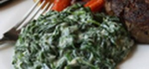 Make a delicious creamed spinach