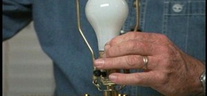 Install a three-way switch on a lamp