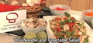 Make a Thai noodle & vegetable salad with mushrooms