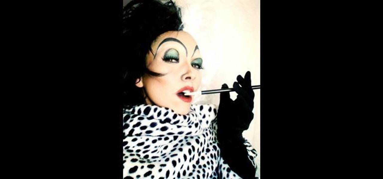 how to apply a cruella de vil makeup look from 101 dalmations makeup wonderhowto