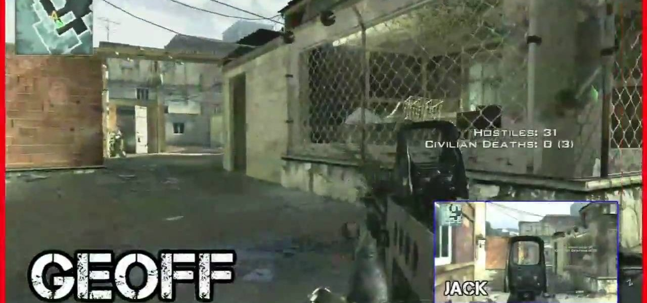 How to Mod Modern Warfare 2 into a splitscreen using your PC