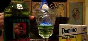 Prepare absinthe drink