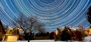 Star Trails Captured in Time Lapse