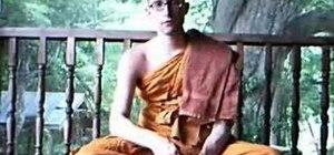 Practice walking meditation for Buddhism