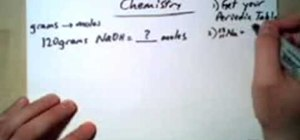 Convert grams to moles for chemistry