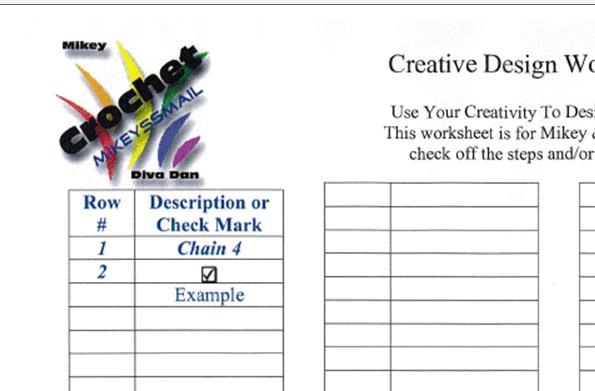 New Mikeyssmail Creative Design Worksheets Available
