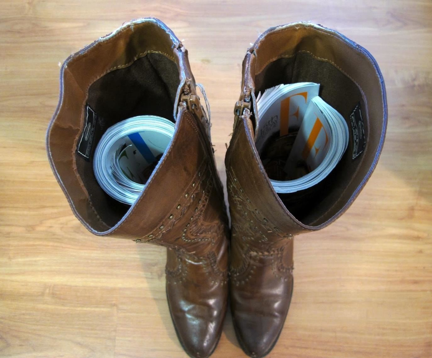 How to Keep Tall Boots from Slouching (And Organize Your Closet Chaos)