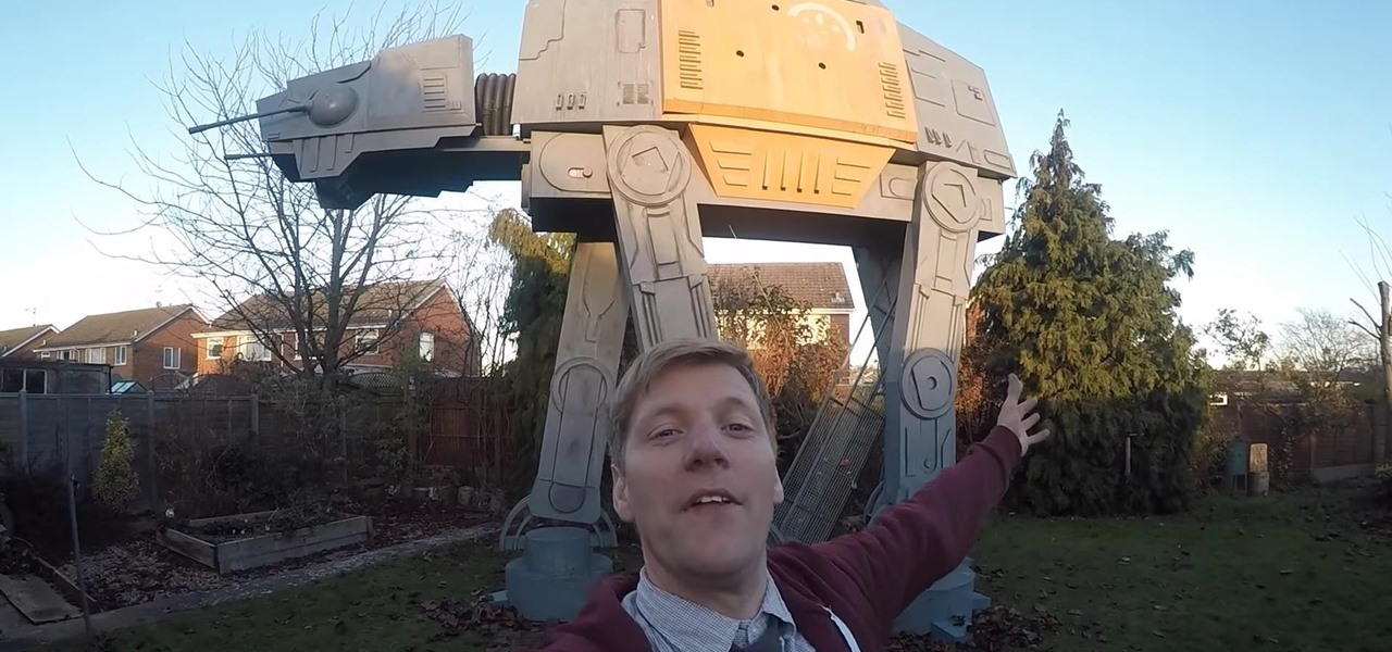 YouTuber Surprises Biggest Fan with Giant Playhouse Version of 'Rogue One' AT-ACT