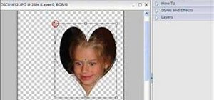 Use the cookie cutter tool in Photoshop Elements 4.0