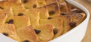 Make bread & butter pudding dessert