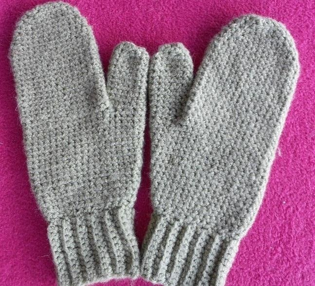 Crocheting Mittens : How to Make Simple Mittens in Single Crochet ? Knitting & Crochet
