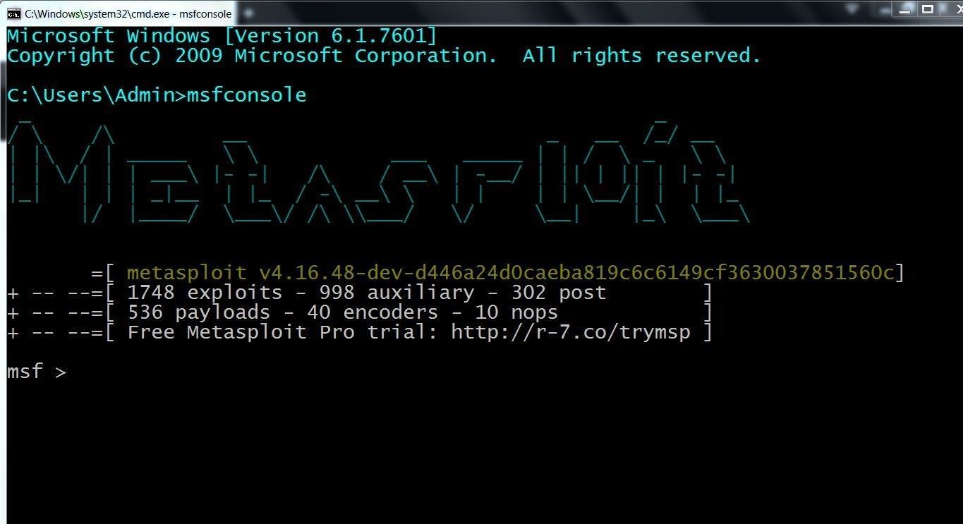 I Want to Use Metasploit on Windows . Can I Use It ?