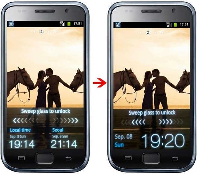 How to Remove Seoul Clock from Korean Anycall Galaxy S [SHW-M110S654