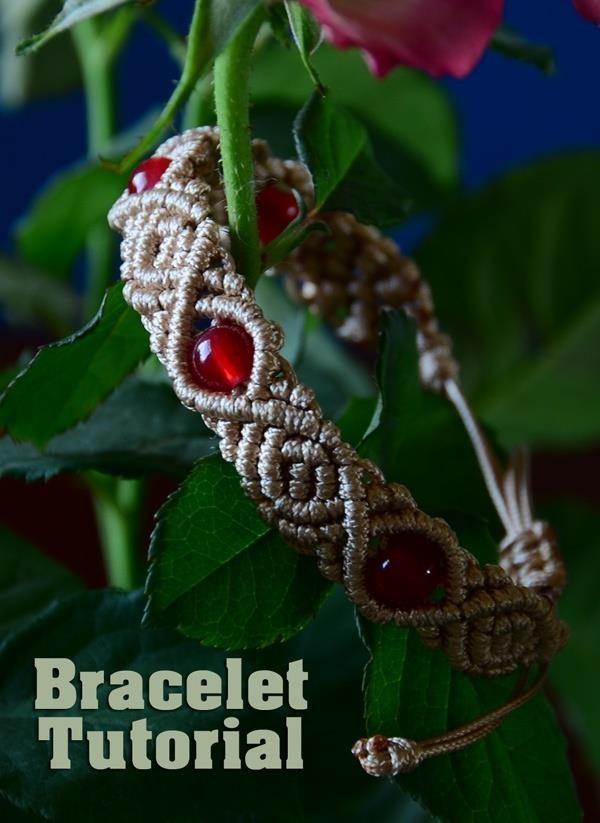 Roses & Beads - Macrame Bracelet Tutorial
