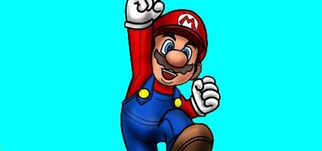 Draw Mario of Mario Bros.