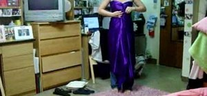 Make a sexy looking toga out of a sheet for women