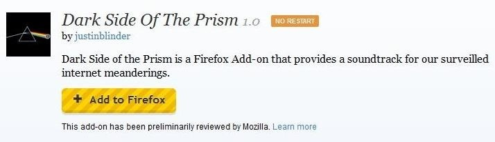 Dark Side of the Prism: Get Alerted Whenever You Visit a Website Owned by a PRISM-Targeted Company