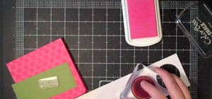 Make a scalloped bright post-it note holder