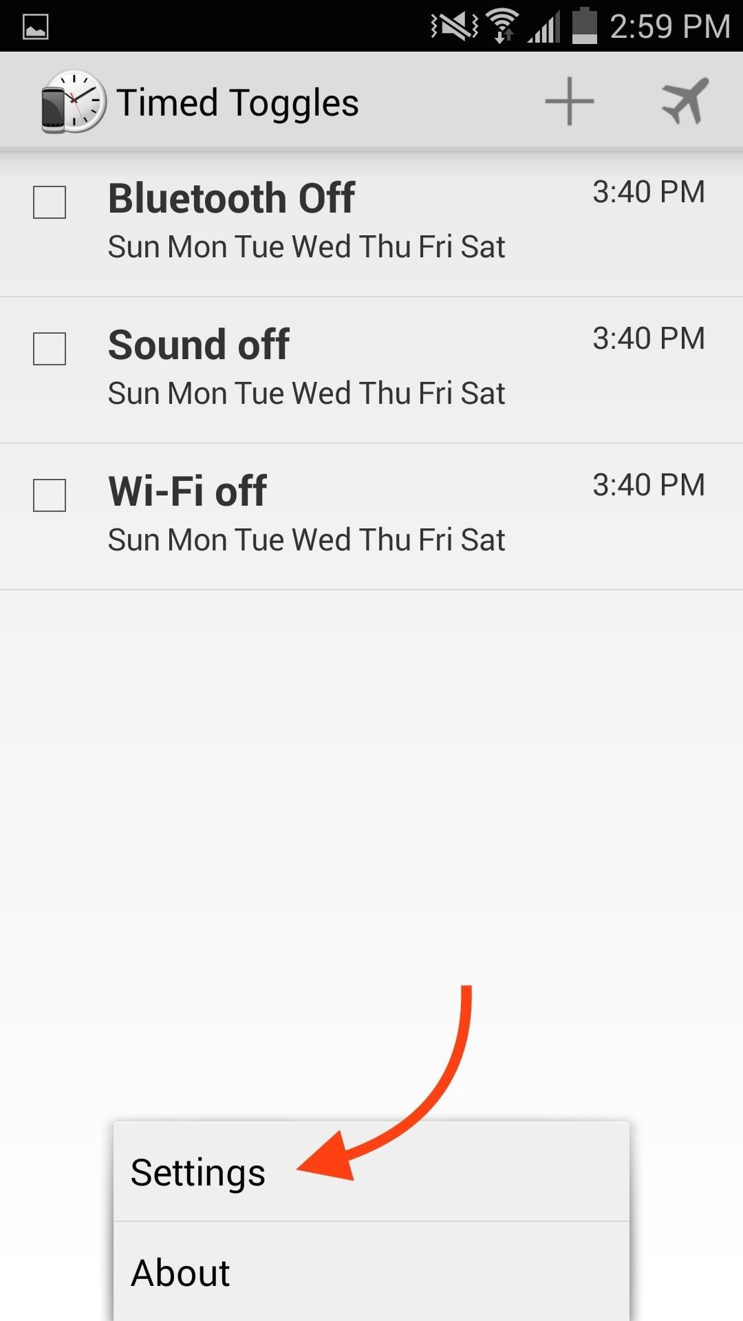 Schedule Bluetooth, Data, Wi-Fi & Other System Settings on Android
