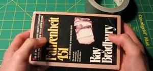 Make a duct tape book cover