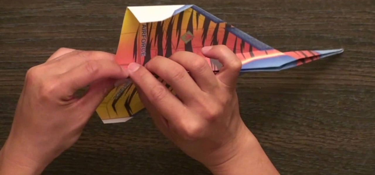 how to fold the ty legend fighter jet paper airplane
