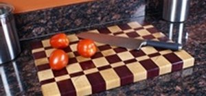 Make an end-grain kitchen cutting board