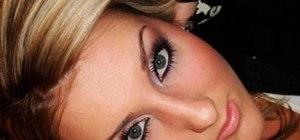 "Create a Rihanna look using ""reversed eyeliner"""