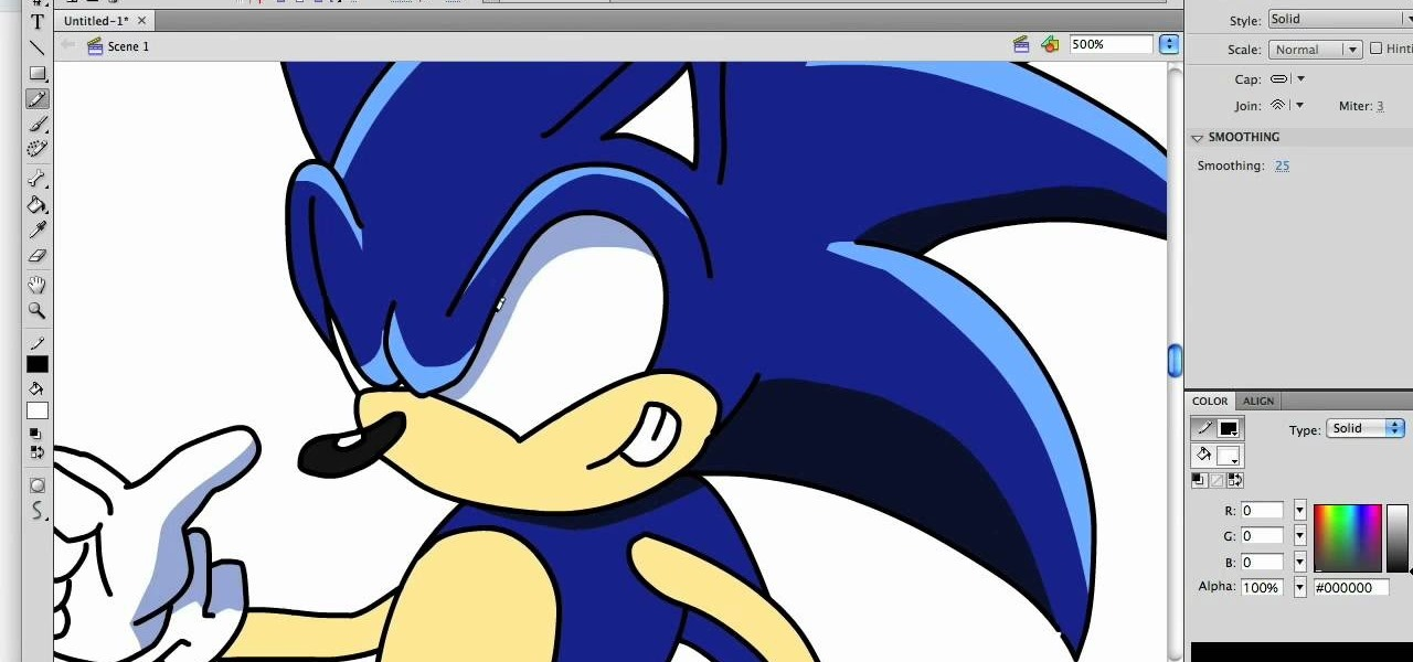 How To Draw A Hyper Stylized Sonic The Hedgehog Drawing Illustration Wonderhowto