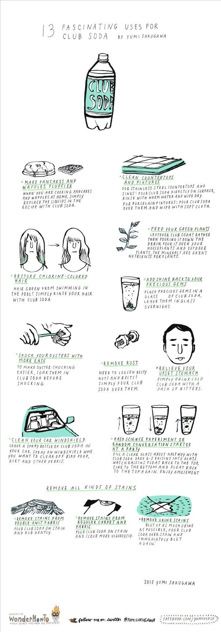 13 Fascinating Uses for Club Soda