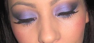 Create an electric purple eye look for night clubbing