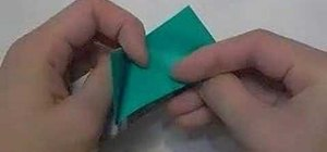 Fold an easy origami leek vegetable for beginners