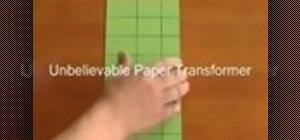 Make a paper toy transformer