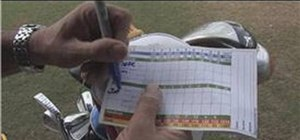 Fill in a scorecard for golf