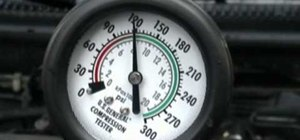 Check the compression pressure on an engine
