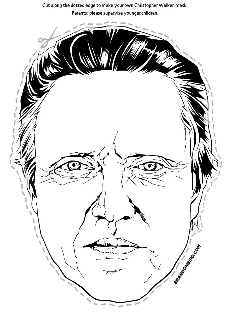 21Christopher Walken (via Brandon Bird)  Mask Templates For Adults