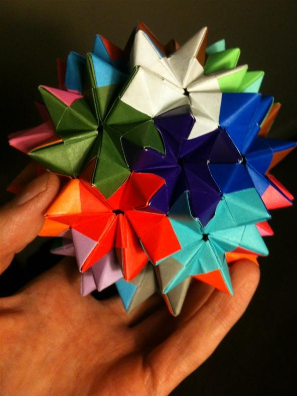 Diy How To Make A Luminous Origami / Bucky Ball Origami / Flower ... | 789x592