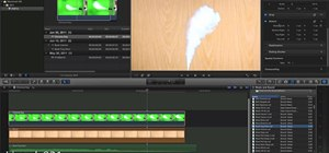 Use the Chroma Key green screen feature in Final Cut Pro X