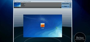 Change your Windows 7 login screen