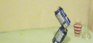 Perform a soda can balancing trick