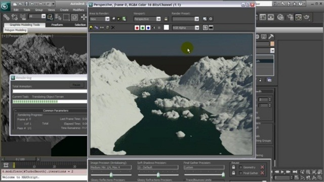 Model a natural environment in 3D Studio Max 2010