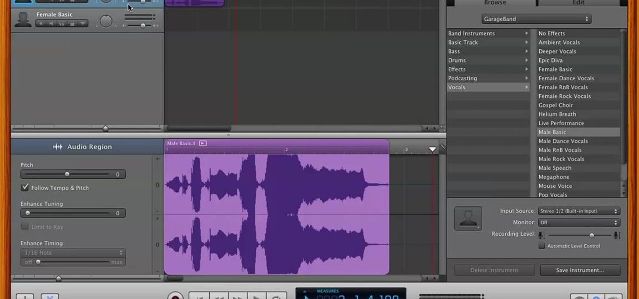 How to Remove Vocals from a Song Using GarageBand